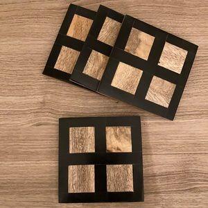Mid century modern wood coasters set of 4
